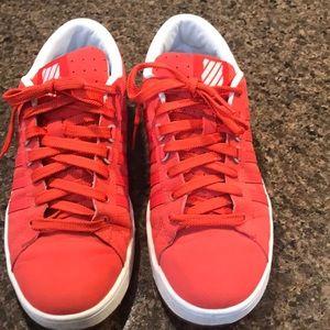 K-Swiss women's classic  red sneaker. Size 8